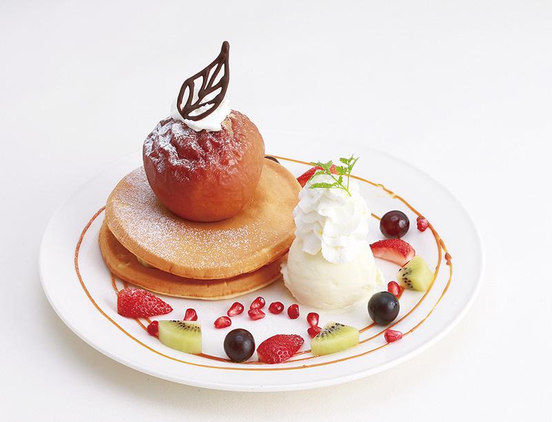 【〜1月中旬・期間限定】焼きりんごのパンケーキ