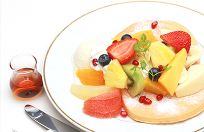 <おすすめNO.2>フルーツミックスパンケーキ